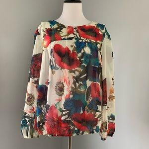 Bright Floral Blouse